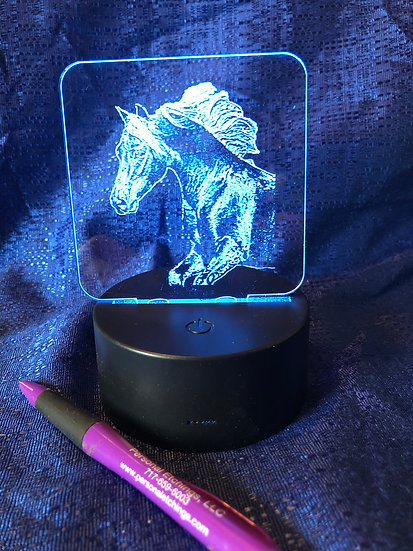 Horse head Battery operated color changing night light