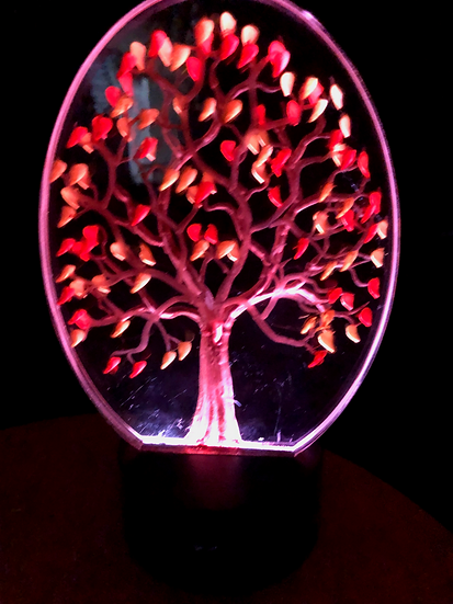 fall tree on battery light