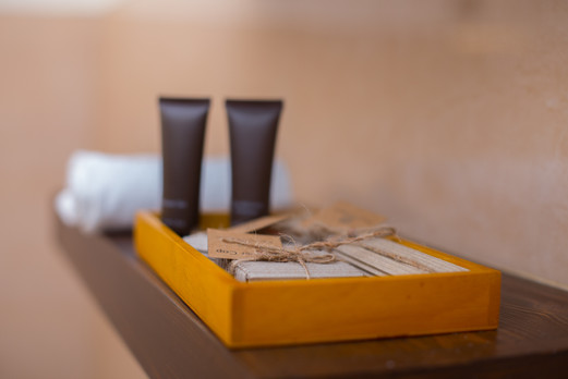 Complimentary bathroom amenities with every room