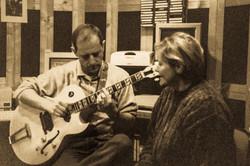 con Sandro Gibellini in studio