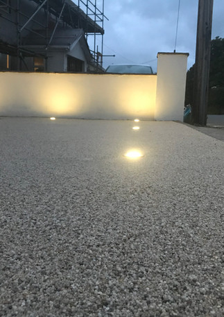 Resin drive with lights