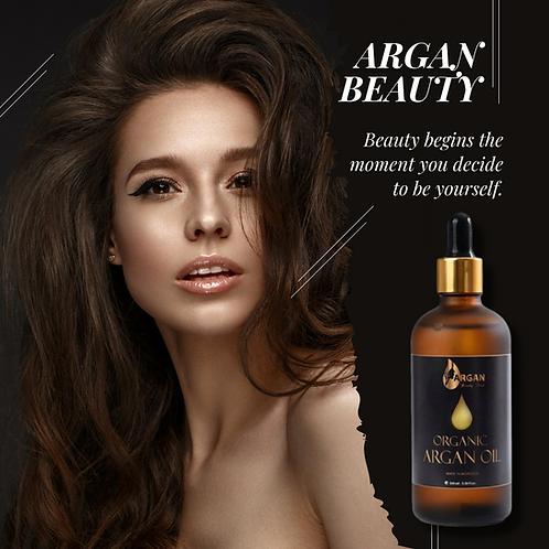 Pure Gold Argan Oil by Argan Beauty Deep/Triple Filtered/Organic/Vegan/Best Moro