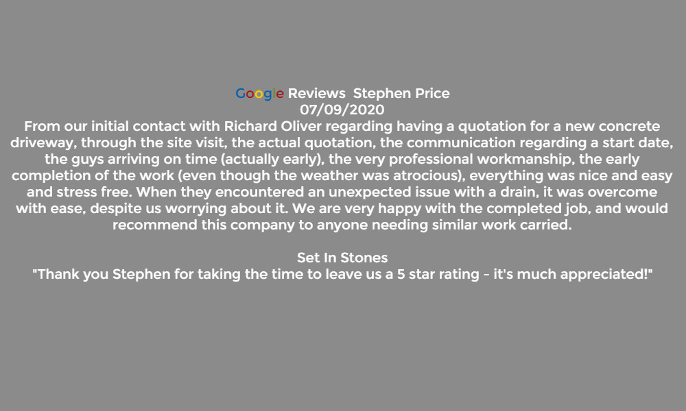 Reviews Set In Stones