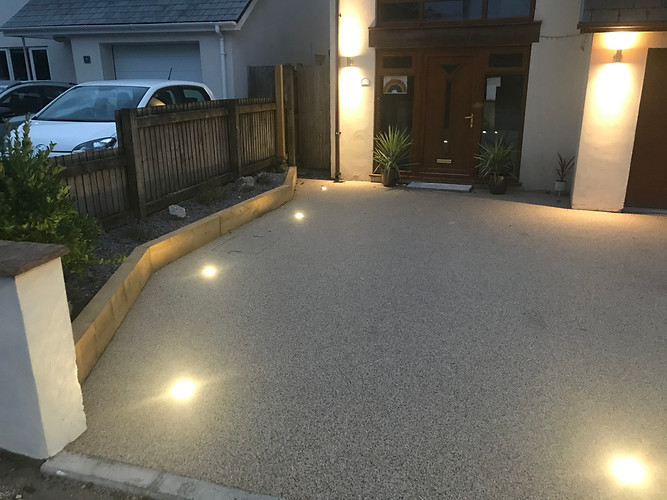Resin Drive with spotlights inlayed