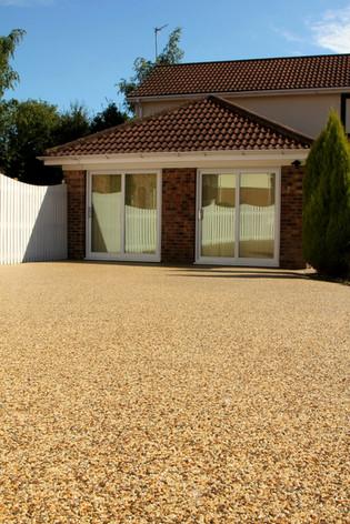 Long resin driveway