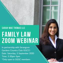 SGCC Family Law Talk - 5th  September 20