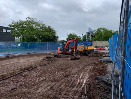 Recent carpark progress - Avonmouth, Bristol