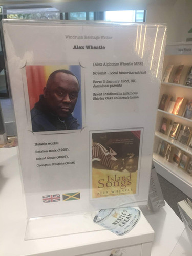 Display in Camberwell library, South East London.