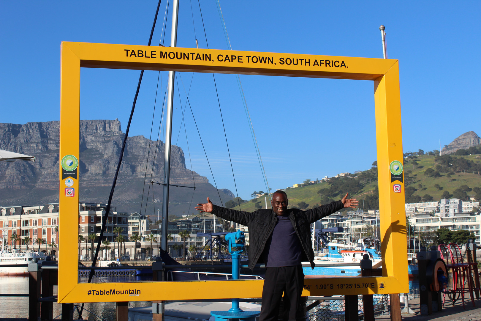 Backdropped by Table Mountain, Cape Town, South Africa.