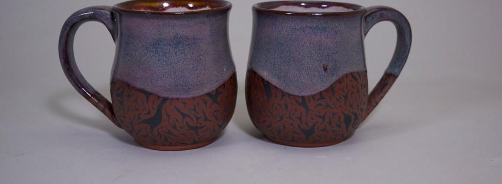 Purple/Brown Mug Set