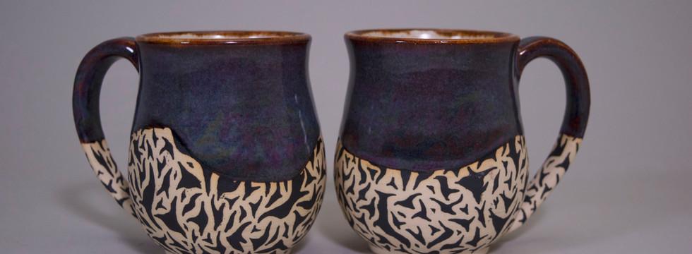 Purple/Blue Mug Set