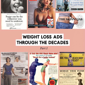 Weight loss ads over the decades
