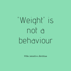 Weight is not a behaviour