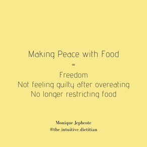 Make Peace with Food =