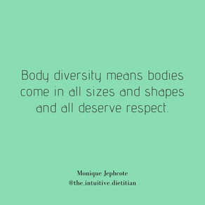 Bodies are MEANT to come in diff. shapes/weight/sizes