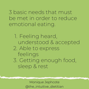 Basic needs and emotional eating