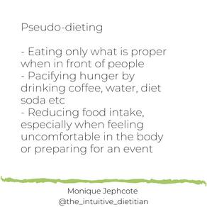 Psuedo-dieting