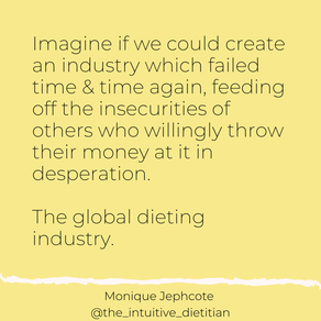 The global dieting industry