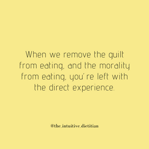 Direct experience of eating