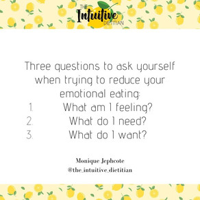 Q's to ask when Emotional Eating