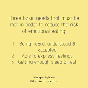 3 needs met before emotional eating