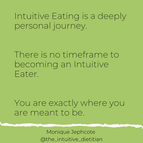 Intuitive Eating has no timeframe