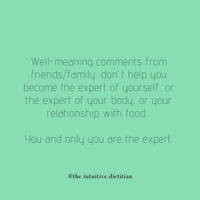 You & only you are the expert