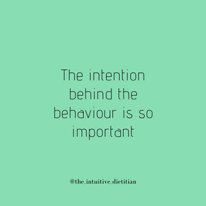 Intention behind behaviour