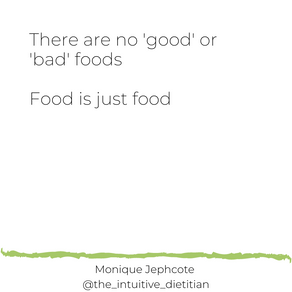 No 'good' or 'bad' foods