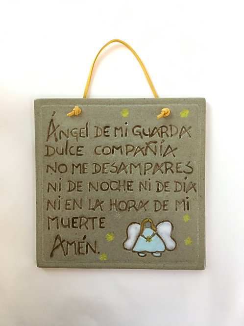 PLACA ÁNGEL DE MI GUARDA NIÑITA