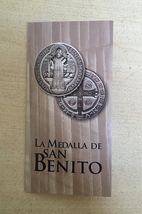 TRÍPTICO MEDALLA SAN BENITO