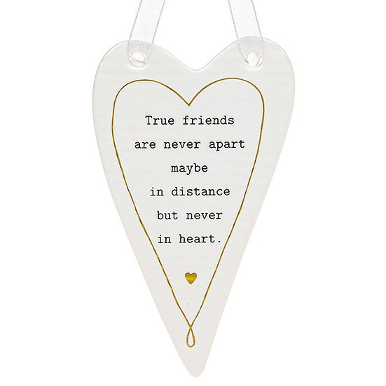 Thoughtful Words Hanging Plaque - True Friends