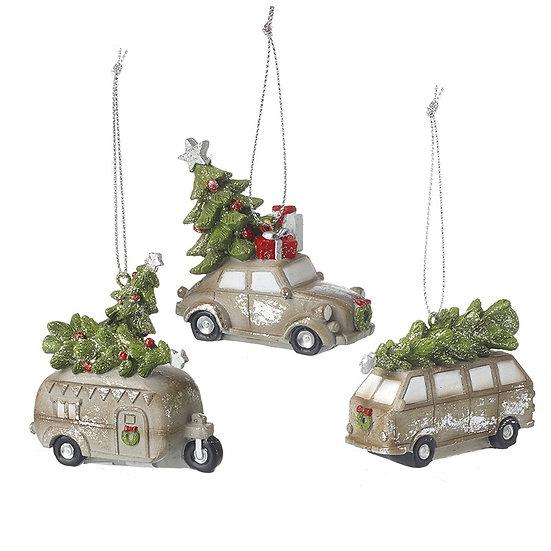 Vehicle Carrying Xmas Tree Decoration
