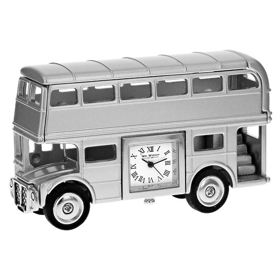 Double Decker Bus Miniature Desk Clock