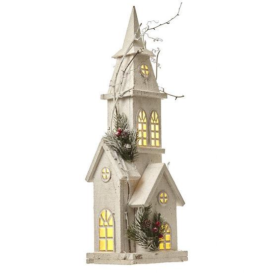 Wooden Light Up Church