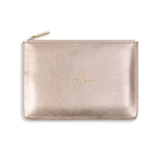 Katie Loxton 'Time to Shine' Gold Perfect Pouch
