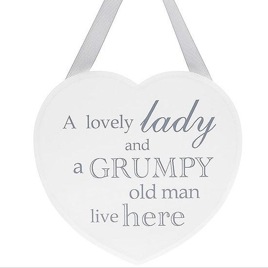 Shabby Chic Heart 'Grumpy Old Man'