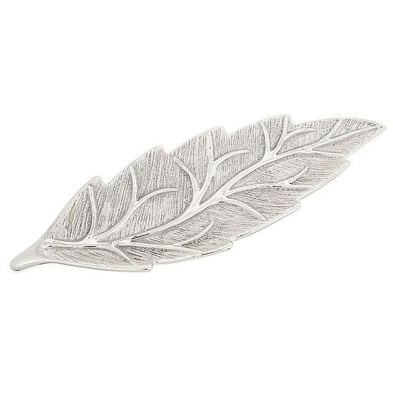 Champagne Leaf Design Plate