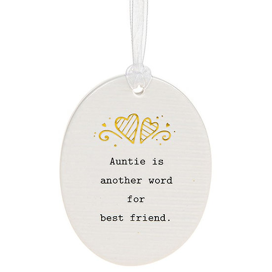 Thoughtful Words Hanging Plaque - Auntie