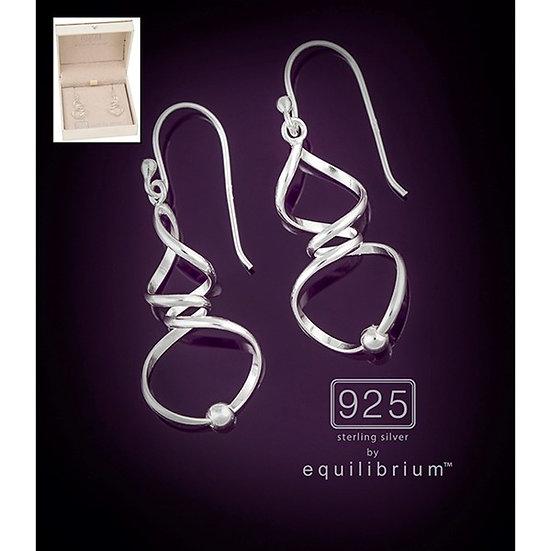 Sterling 925 Silver Corkscrew Earrings