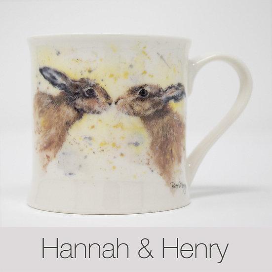 Hannah and Henry Hares China Mug
