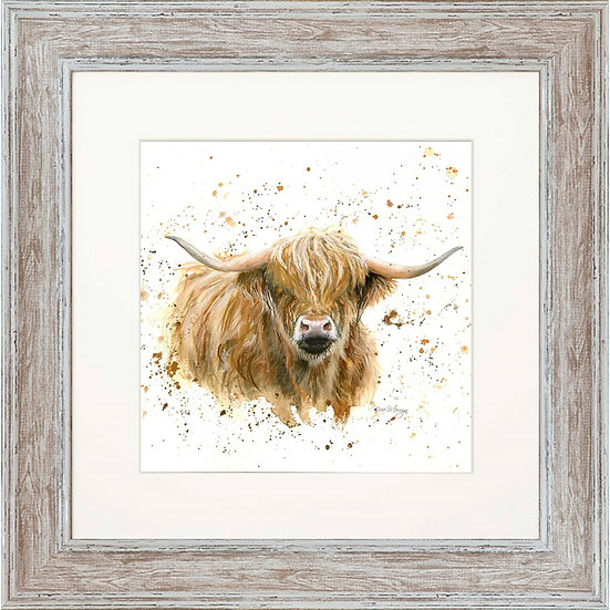 Blair Cow 48cm Square Framed Print