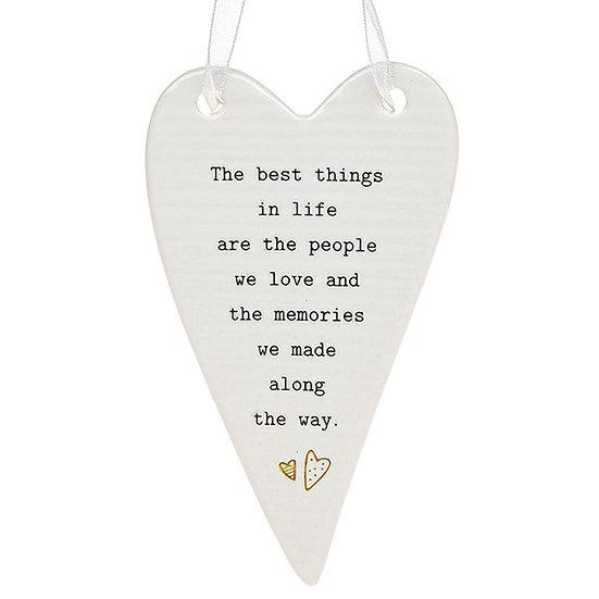 Thoughtful Words Hanging Plaque - Memories