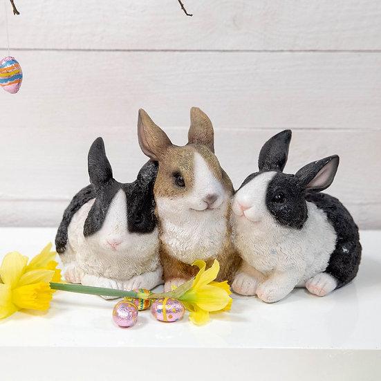 Three Rabbits Figurine - Naturecraft