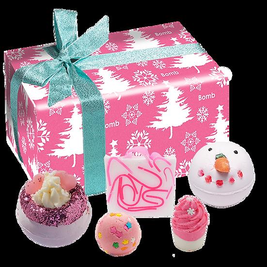 Dreaming Of A Pink Christmas Bath Set
