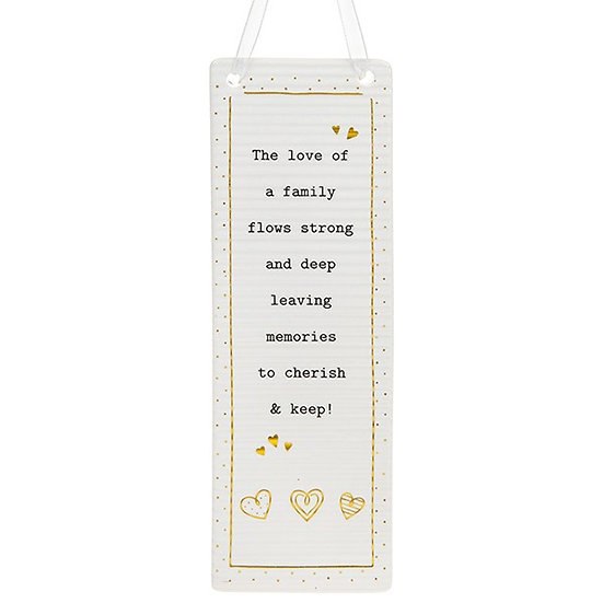 Thoughtful Words Large Hanging Plaque - Family