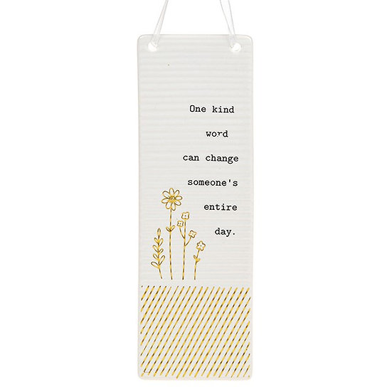 Thoughtful Words Large Hanging Plaque - Kind Word