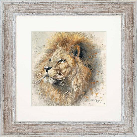 Lex Lion 48cm Square Framed Print