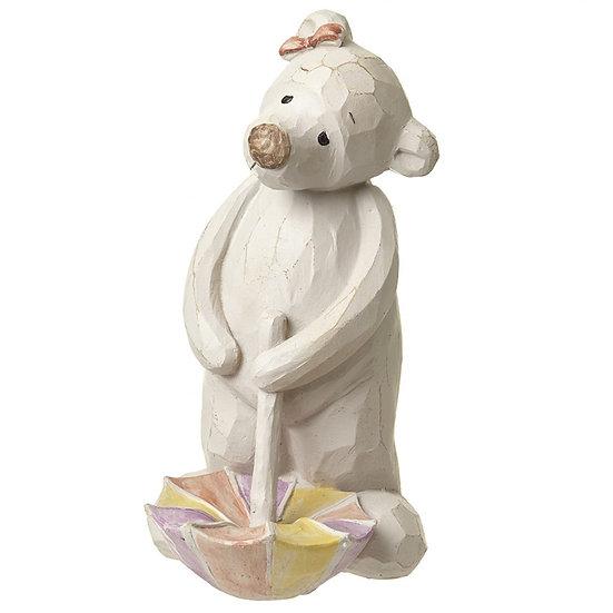 Bear With Umbrella Ornament