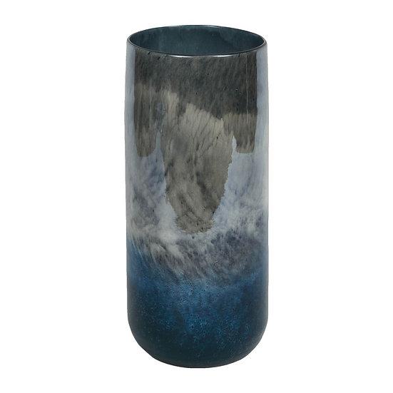 Objets d'Art 31cm Marble Effect Glass Vase